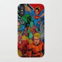 superheros iPhone & iPod Cases featuring Heroes Unite by JayKay
