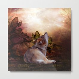 Awesome wolf Metal Print