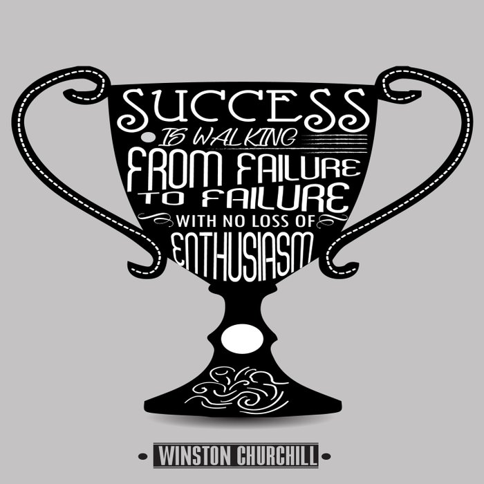 Success is walking from failure Winston Churchill Inspirational Quotes Comforters