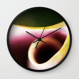 Calla Lily Abstract Wall Clock