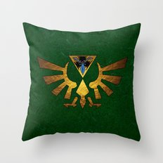 Tri Force of Zelda Throw Pillow