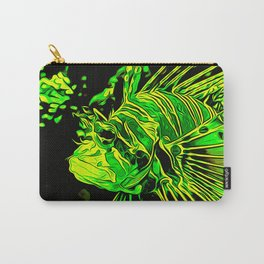 lionfish vector art green Carry-All Pouch