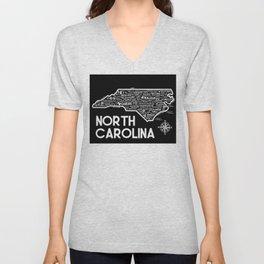 North Carolina Map  Unisex V-Neck