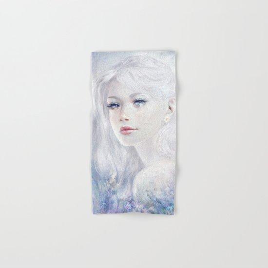 Ethereal - White as ice beatiful girl portrait Hand & Bath Towel