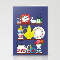 scandinavian Stationery Cards featuring Scandinavian Shelf Collectibles by Elisandra