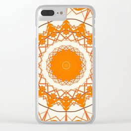 Orange Tangerine Mandala Clear iPhone Case