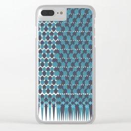Cubist Ornament Pattern Clear iPhone Case