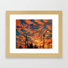 Street Meets Sky  Framed Art Print