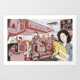 Aboard the Nostromo Art Print