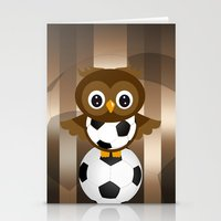 soccer Stationery Cards featuring Soccer Owl by Simone Gatterwe