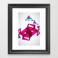 Paper Birds Framed Art Print