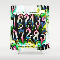numbers Shower Curtains featuring Numbers! by gasponce