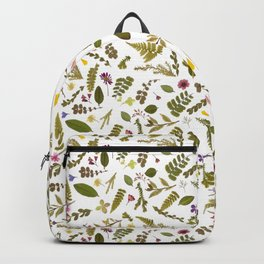 Greenery Floral Pressed Flowers Backpack