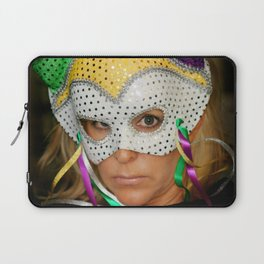 Woman with Mask Laptop Sleeve