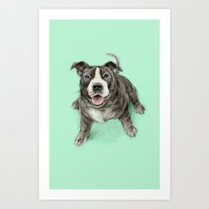 Hug a Staffie Art Print