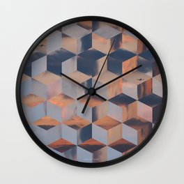 Tumbling Blocks (Sky Quilt 3) Wall Clock