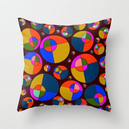 Bubble pink & blue 07 Throw Pillow