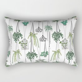 hanging pots pattern Rectangular Pillow