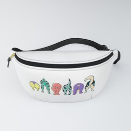 Colorful Cat Butts Fanny Pack