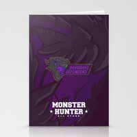 monster hunter Stationery Cards featuring Monster Hunter All Stars - BD by Bleached ink