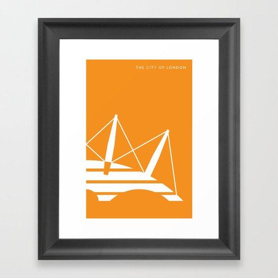 Iconic London: Millennium Dome Framed Art Print