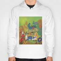 alice wonderland Hoodies featuring Wonderland by joanniegelinas