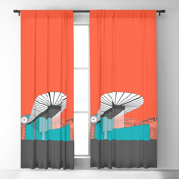 Turquoise Island Blackout Curtain