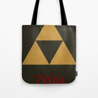 triforce Tote Bags featuring Triforce by Jynxit
