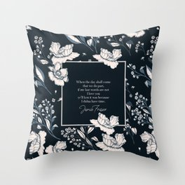 When the day shall come that we do part... Jamie Fraser Throw Pillow