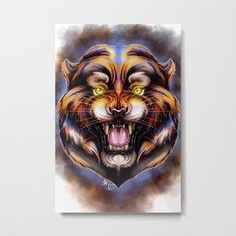 Electric Tiger Metal Print