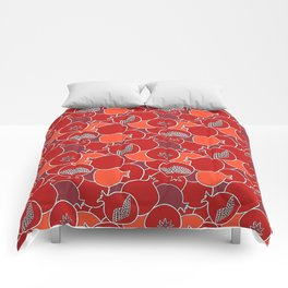 Pomegranate Harvest with Fruit and Seeds Comforters
