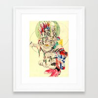 punk Framed Art Prints featuring Punk by withapencilinhand