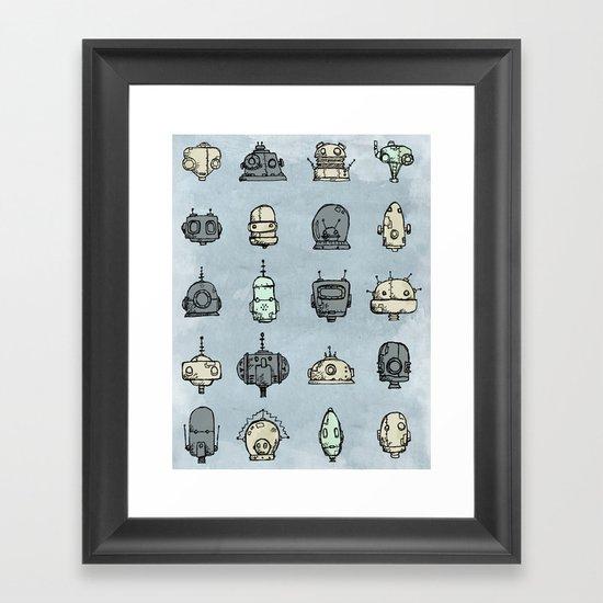 Robot Menagerie Framed Art Print