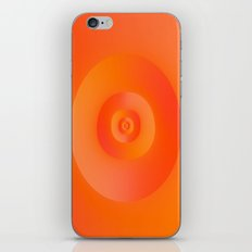 Flip in Orange and Red iPhone & iPod Skin