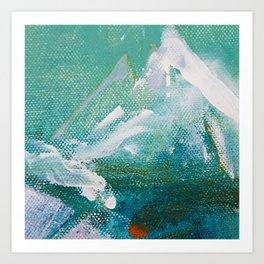 Canvas Peaks - an abstract, textured artwork by Jacob von Sternberg Art Print