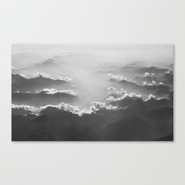 Clouds (Black and White) Canvas Print