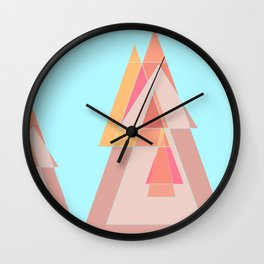 Abstract geometric landscape Wall Clock