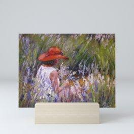 Lavender Picking — L Diane Johnson Mini Art Print