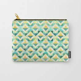 Quilted Diamond // Geometric Watercolor Pattern Carry-All Pouch