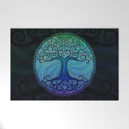 Tree of Life - Cool Blue Welcome Mat
