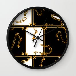 Unchained: Gold, Black + White Wall Clock