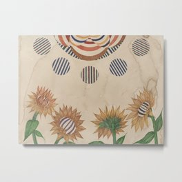 Fiery Sunflowers Metal Print