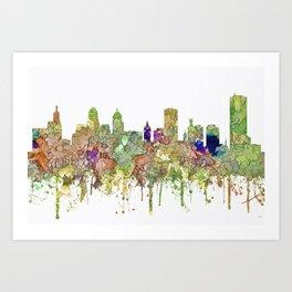 Buffalo, New York Skyline SG - Faded Glory Art Print