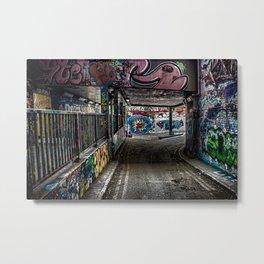 Leake Street Graffiti London Metal Print
