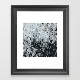 Gray Leaves pattern . Framed Art Print