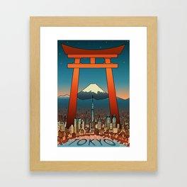 Tokyo Travel Poster Framed Art Print