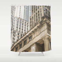 Federal Hall, New York photos, I love NY, Wall street, fine art photo Shower Curtain