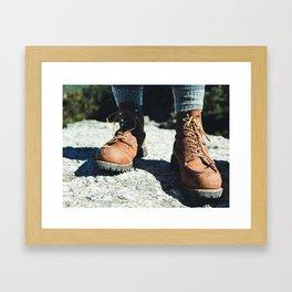 Vintage Hiker Framed Art Print