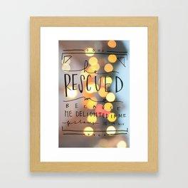 Rescued Framed Art Print