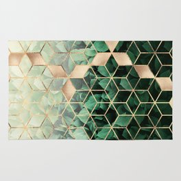 Leaves And Cubes Rug